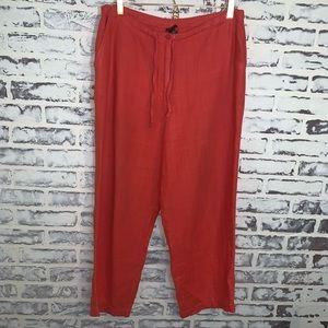 Eileen Fisher 100% Linen Pants Wide Leg Lagenlook